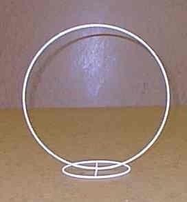 Tischringständer 20cm D. weiß