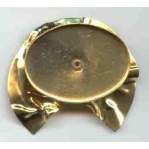 Modellierbrosche 40 x 30 mm. oval