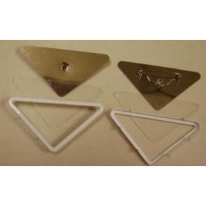 Glasmalbrosche Dreieck 68 x 35 mm