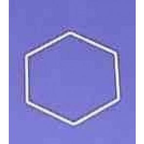 Sechseck 16 cm D.. weiß