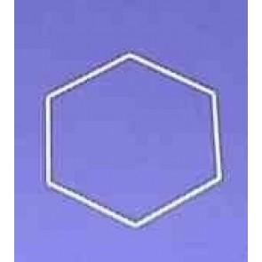 Sechseck 21 cm D.. weiß
