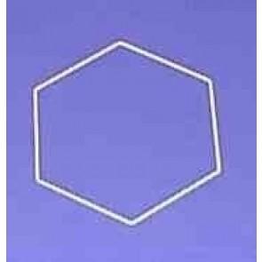 Sechseck 24 cm D.. weiß