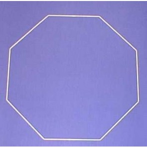 Achteck 50cm D. weiß