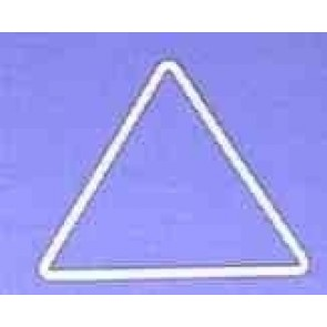 Dreieck s=10,6cm weiß