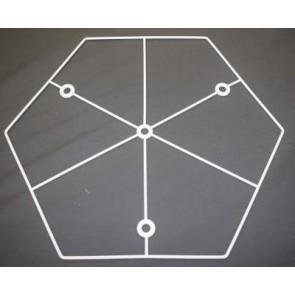 Sechseckring 38 cm D. N + 3N weiß