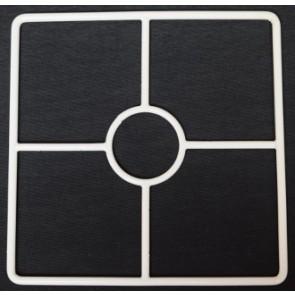 4R 140x140 mm + F E14 weiß