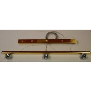 Balkenleuchte 3 flg. 90 cm breit