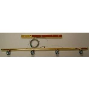 Balkenleuchte 4flg. 120 cm breit