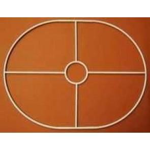 Drahtring oval 220x290mm+F E27 gerade