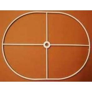 Drahtring oval 22x29 cm + N gerade. weiß