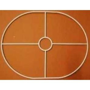 Drahtring oval 230x295mm+F E27 gerade