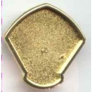Modellierbrosche 34 x 32 mm. goldfarben