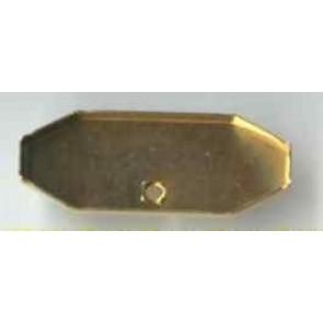 Modellierbrosche achteckig 38 x 18 mm.