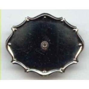 Modellierbrosche 47 x 37 mm, platiniert