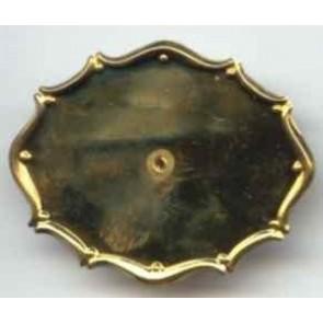 Modellierbrosche 47 x 37 mm. zapongold