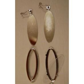 Glasmal-Ohranhänger 46 x 17 mm.