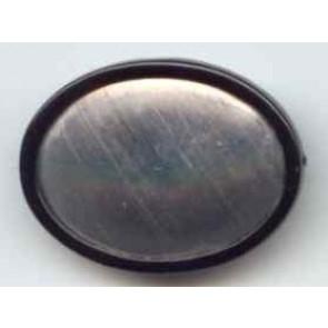 Seidenmalbrosche oval 40 x 30 mm.
