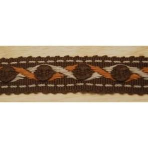 Borte braun/orange/creme,3 cm hoch