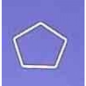 Fünfeck 11cm D. weiß