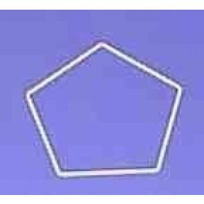Fünfeck 19cm D. weiß