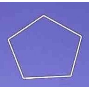 Fünfeck 28cm D. weiß