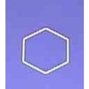 Sechseck 12 cm D.. weiß