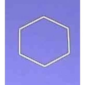 Sechseck 18 cm D.. weiß