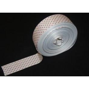 Taftband weiß mit roten Tupfen