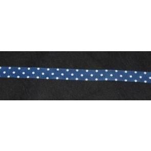 Taftband blau mit weißen Tupfen
