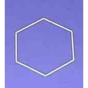 Sechseck 22 cm D.. weiß