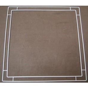 4R 50x50 + 4R 45x45 cm, weiß
