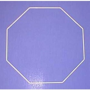 Achteck 31cm D. weiß