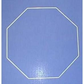 Achteck 35cm D. weiß