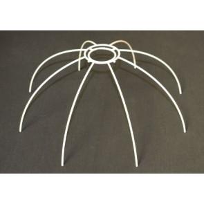 Drahtspinne 30 cm Ø, 8 Streben, weiß