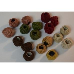 Knoten für textilumwickelte Kabel