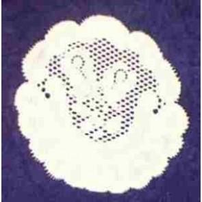 Spitzendeckerl Ø 14 cm, weiß