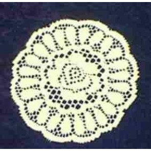 Spitzendeckerl rund Ø 20 cm, weiß