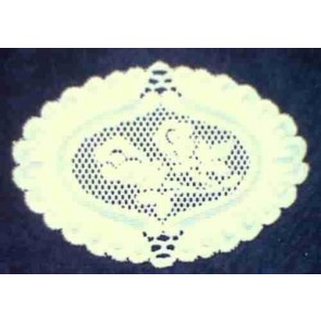 Spitzendeckerl 21x14 cm, weiß