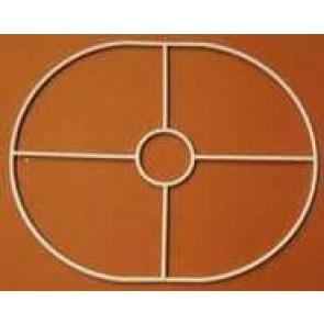 Drahtring oval 195x245mm +F E27 gerade